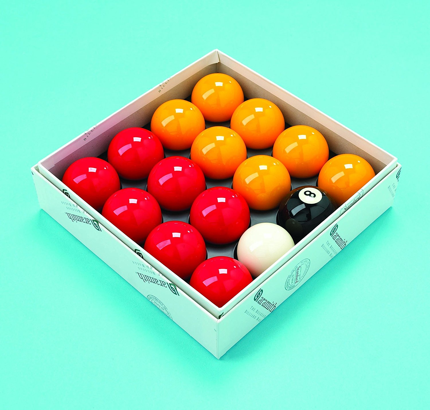 Standard Red and Yellow Pool balls