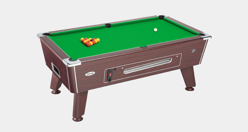 Omega Coin-Operated Pool Table