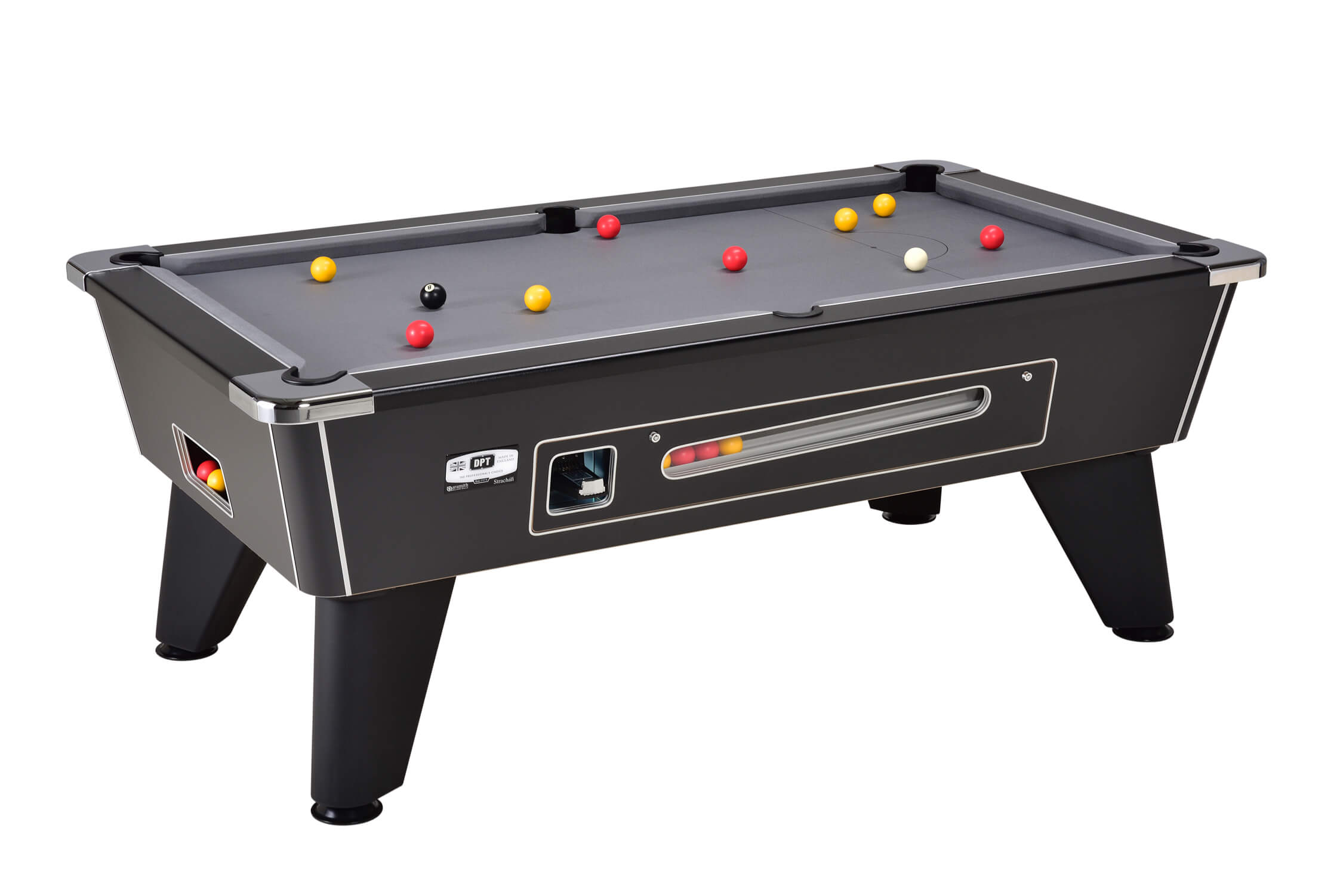 Omega 2.0 Coin Operated Pool Table – Black